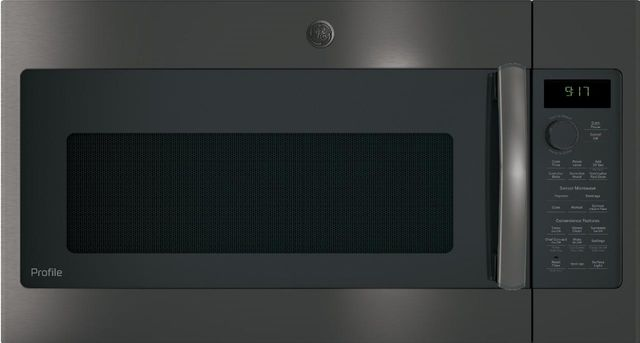 """GE Profile™ 39.88"""" Black Stainless Steel Over The Range Microwave-PVM9179BLTS"""