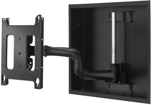 """Chief® Black Large 22"""" Low-Profile In-Wall Swing Arm Mount-PWRIW2000B"""