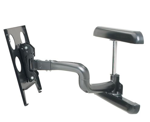 Chief® Manufacturing Black Large Flat Panel Swing Arm Wall Display Mount-PWRUB