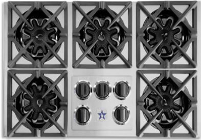 """BlueStar 36"""" Gas Drop-In Cooktop-Stainless Steel-RBCT365BSS"""