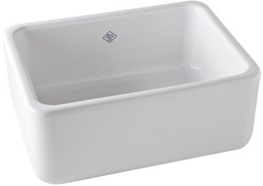 """Rohl® Shaws Original 24"""" Apron Front Kitchen Sink-White-RC2418WH"""