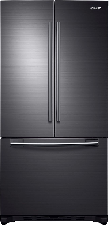 Samsung 18 Cu. Ft. Counter Depth French Door Refrigerator-Fingerprint Resistant Black Stainless Steel-RF18HFENBSG