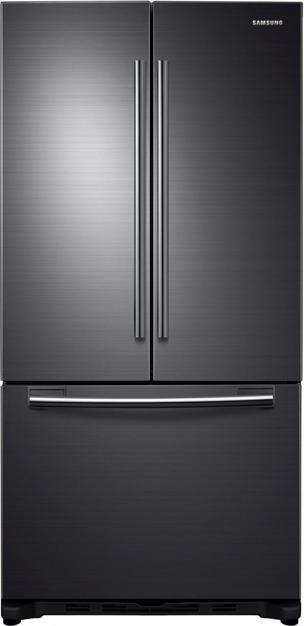 Samsung 20 Cu. Ft. French Door Refrigerator-Fingerprint Resistant Black Stainless Steel-RF20HFENBSG