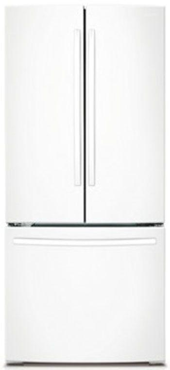 Samsung 22 Cu. Ft. French Door Refrigerator-White-RF220NCTAWW