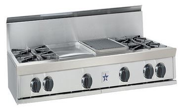 "BlueStar 48"" Gas Rangetop-Stainless Steel-RGTNB484CBV1"
