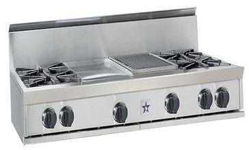 "BlueStar 48"" Gas Rangetop-Stainless Steel-RGTNB484FTBV1"