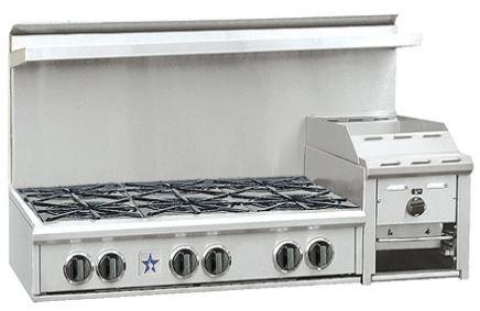 "BlueStar Heritage Classic Series 48"" Gas Rangetop-Stainless Steel-RGTNB486GHCV1"