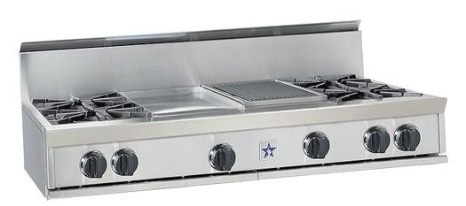 "BlueStar 48"" Gas Rangetop-Stainless Steel-RGTNB488BV1"