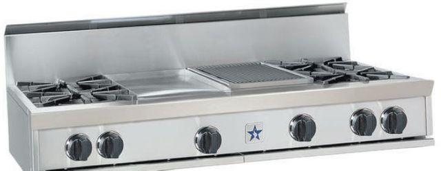 "BlueStar 60"" Gas Rangetop-Stainless Steel-RGTNB606FTBV1"