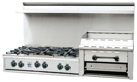 "BlueStar Heritage Classic Series 60"" Gas Rangetop-Stainless Steel-RGTNB606GHCV1"
