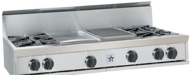 "BlueStar 60"" Gas Rangetop-Stainless Steel-RGTNB608GV1"