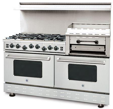 "BlueStar RNB Heritage Classic Series 60"" Free Standing Double Oven Gas Range-RNB606GHCV1"