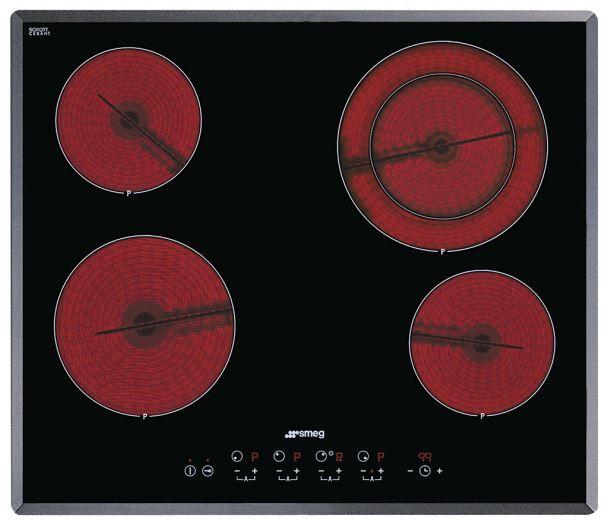 """Smeg 24"""" Ceramic Cooktop-Black-S2641TCU"""