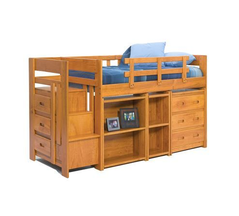 Woodcrest Heartland Collection Youth Bookshelf-S3