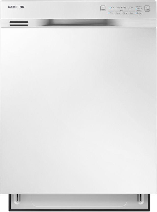 """Samsung 24"""" Built In Dishwasher-White-DW80N3030UW"""