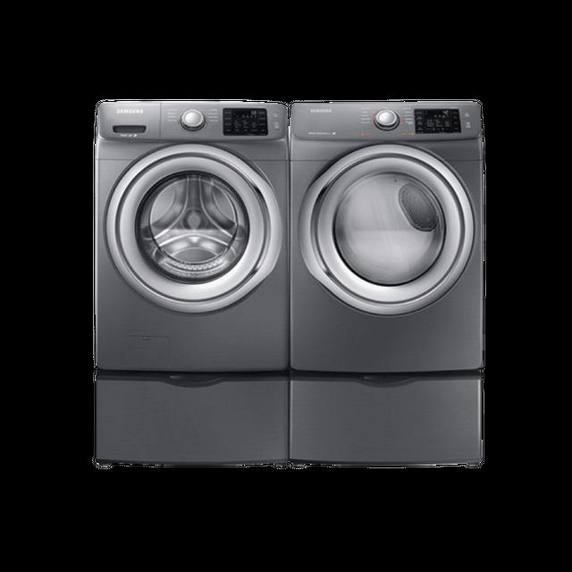 Samsung 5200 Series Front Load Laundry Pair-Platinum-SANOVLAU172
