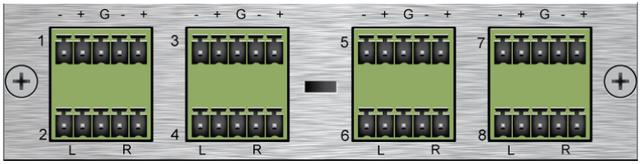 Savant® Stereo Preamp Output Module (Balanced)-AOM-BAL16-00