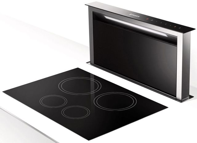 """Faber Hoods Scirocco Lux 30"""" Downdraft Range Hood-Stainless Steel-SCLX3015SSNB-B"""