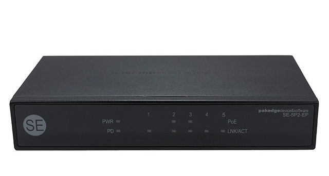 Pakedge® Device & Software Inc 5 Port Gigabit Unmanaged Power Over Ethernet Switcher-SE-5P2-EP-A