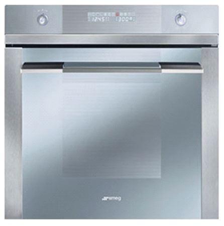 "Smeg 24"" Linea Design Multifunction Silver Glass Oven-SF112U"