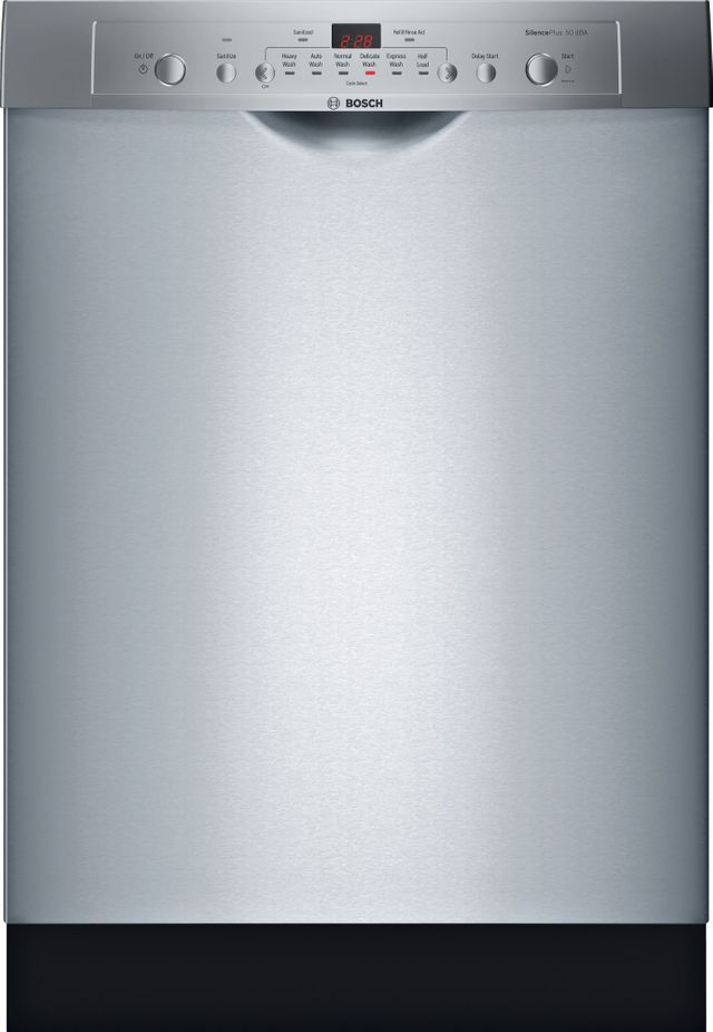 """Bosch Ascenta® Series 24"""" Built In Dishwasher-Stainless Steel-SHE3AR75UC"""