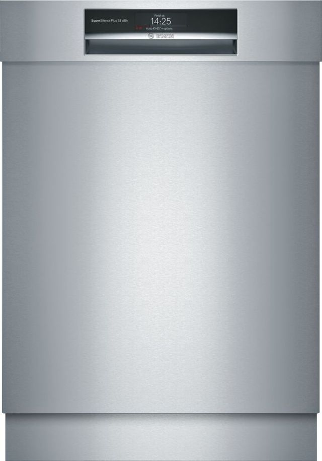 """Bosch Benchmark® 24"""" Stainless Steel Built In Dishwasher-SHE89PW75N"""