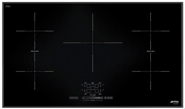 "Smeg 36"" Induction Cooktop-Black-SIMU536B"