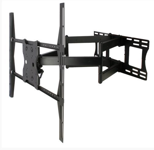 SnapAV Strong™ Contractor Series Universal Dual Arms Articulating Mount-Black-SM-CS-ART2-XL