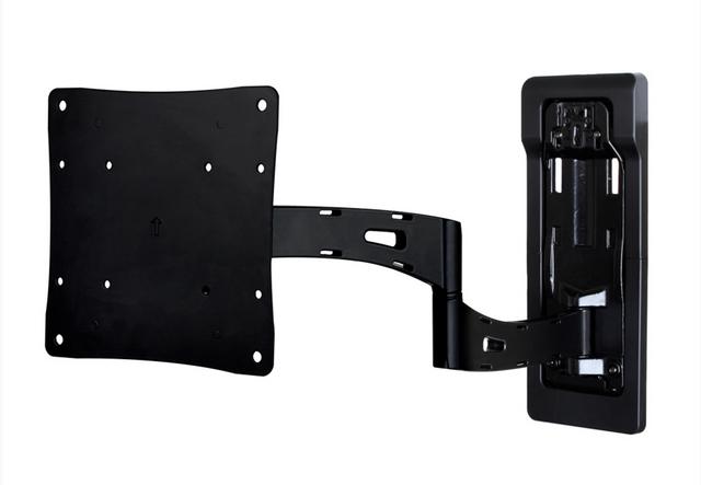 SnapAV Strong™ Razor Series Single Arm Articulating Mount-Black-SM-RAZOR-ART1-M