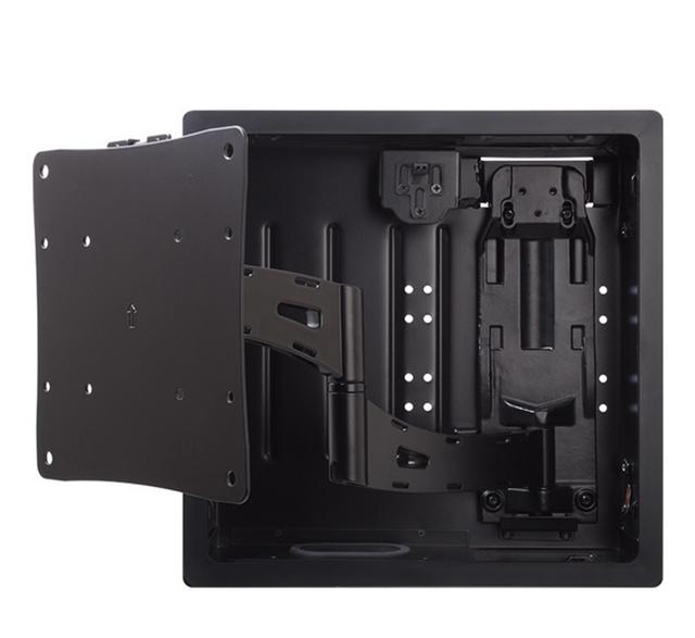 SnapAV Strong VersaMount™ In-Wall Single Arm Articulating Mount-Black-SM-VM-ART1-IW-L