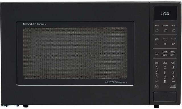 Sharp® Carousel® Convection Countertop Microwave Oven-Matte Black-SMC1585BB