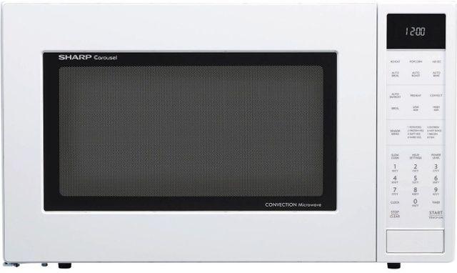 Sharp® Carousel® Convection Countertop Microwave Oven-White-SMC1585BW