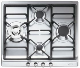 """Smeg 24"""" """"Classic Design"""" Gas Cooktop-Stainless Steel-SR60GHU3"""