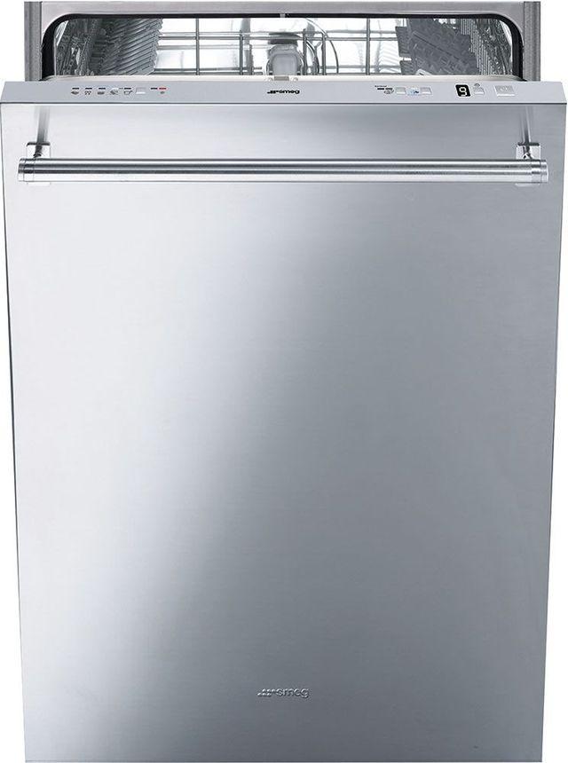 """Smeg 24"""" Built In Dishwasher-Fingerprint Proof Stainless Steel-STU8649X"""