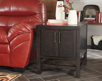 Jazzlyn Rectangular End Table-Brown-T780-3