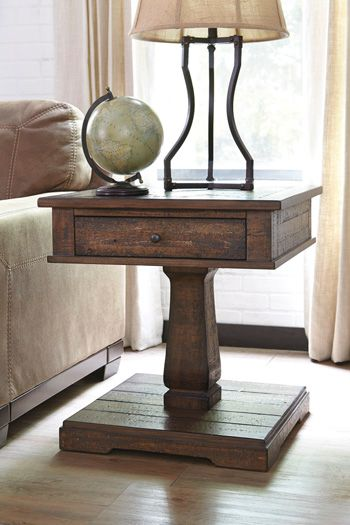 Zalarah Square End Table-T887-2