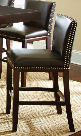 Steve Silver Co. Tiffany Bonded Counter Chair-Brown-TF650CCBN