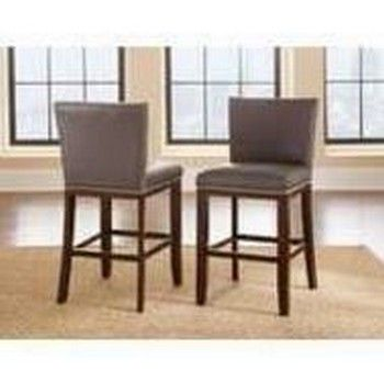 Steve Silver Co. Tiffany Bonded Counter Chair-Gray-TF650CCGN
