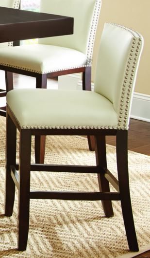 Steve Silver Co. Tiffany Bonded Counter Chair-White-TF650CCWN