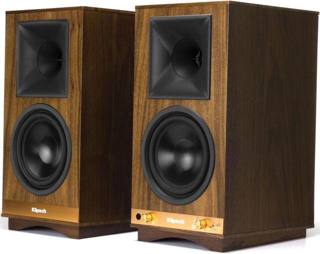 Klipsch The Sixes (Pr.)   Walnut Powered Bookshelf Speakers-1063287