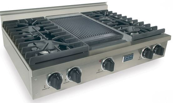 """FiveStar 36"""" Gas Cooktop-Stainless Steel-TPN037-7"""