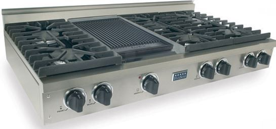"""FiveStar 48"""" Gas Cooktop-Stainless Steel-TPN047-7"""