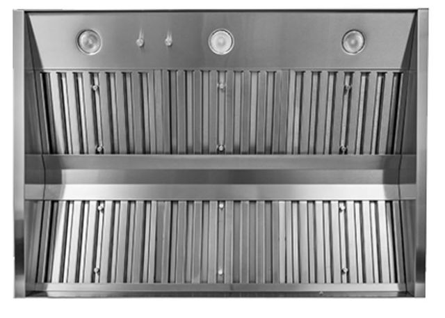 """Trade-Wind® P7200 Series 60"""" Pyramid Style Outdoor Barbecue Grill Hood-Stainless Steel-P7260"""