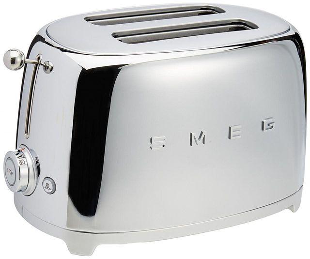 Smeg 50's Retro Style 2 Slice Toaster-Chrome-TSF01SSUS