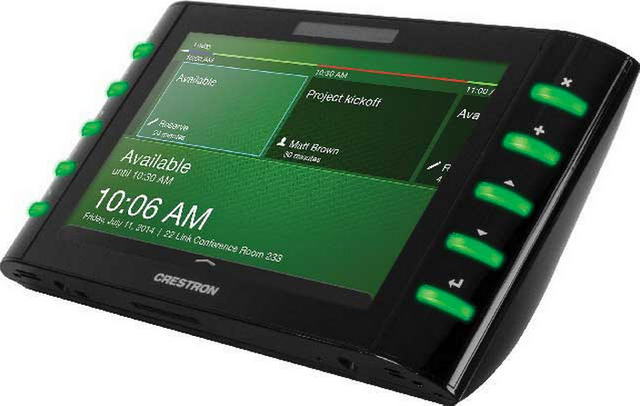 """Crestron 7"""" Room Scheduling Touch Screen-Black Smooth-TSW-732-B-S"""