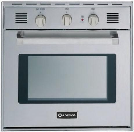 """Verona® 24"""" Gas Built In Single Wall Oven-Stainless Steel-VEBIG24SS"""