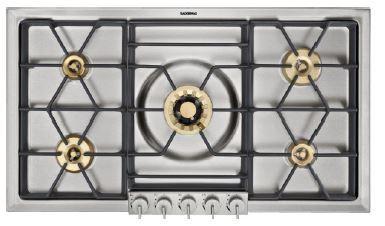 """Gaggenau 200 Series 36"""" Natural Gas Cooktop-Stainless Steel-VG295214CA"""