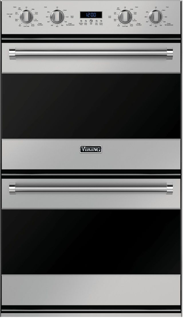 """Viking® Professional Series 30"""" Electric Double Oven Built In-Stainless Steel-RVDOE330SS"""