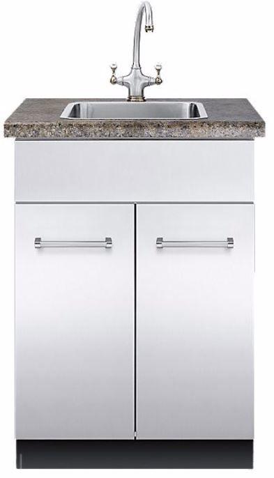 Viking® Sink Base Cabinet-Stainless Steel-VSBO2402SS