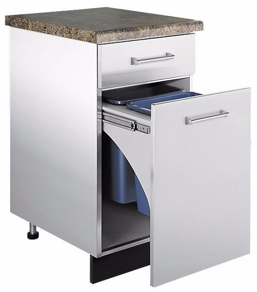 Viking® Trash Pullout-Stainless Steel-VTPO1810SS